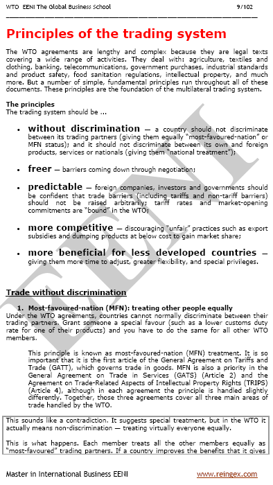 Multilateral trading system wto